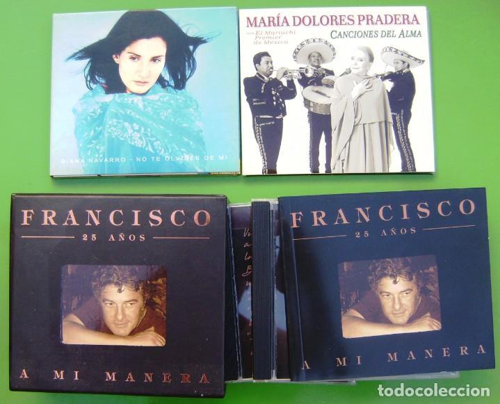 LOTE DE 5 CD - DIANA NAVARRO, MARIA DOLORES PRADERA Y FRANCISCO (Música - CD's Pop)