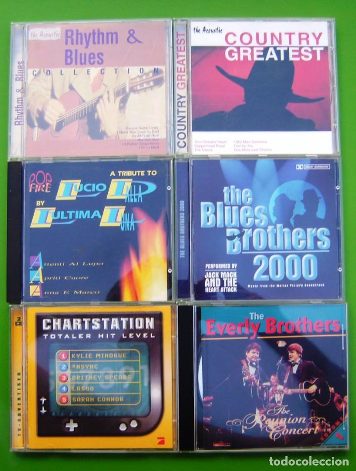 LOTE 6 CDS (THE EVERLY BROTHERS, COUNTRY, RHITHM & BLUES, L.DALLA, CHARSTATION, BLUES BROTHERS 2000) (Música - CD's Pop)