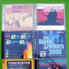 CDs de Música: LOTE 6 CDS (THE EVERLY BROTHERS, COUNTRY, RHITHM & BLUES, L.DALLA, CHARSTATION, BLUES BROTHERS 2000). Lote 217756555