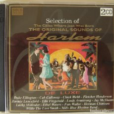 CDs de Música: DOBLE CD DE LUXE CON LA MEJOR MUSICA DE JAZZ DE HARLEM. Lote 217936177