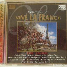 CDs de Música: DOBLE CD DE LUXE CON LAS MEJORES CANCIONES DE LA MUSICA FRANCESA. Lote 217969873