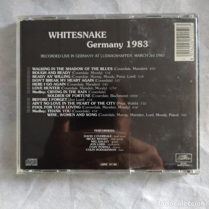 CDs de Música: Whitesnake: Germany 1983 (1994, CD, Album) (D:NM) - Foto 2 - 217993777
