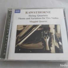 CDs de Musique: RAWSTHORNE. STRING QUARTETS. THEME AND VARIATIONS FOR TWO VIOLINS. NAXOS. Lote 218081911