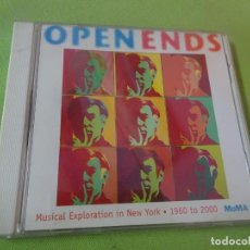 CDs de Música: CD, OPEN ENDS , MUSICAL EXPLORATION IN NEW YORK 1960-2000, MOMA, VER FOTOS. Lote 218115358