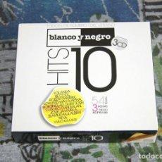 CDs de Música: BLANCO Y NEGRO HITS 10 - MXCD 2060 CDT - BLANCO Y NEGRO - 3 CD'S. Lote 48864814