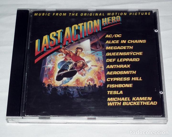 CD B.S.O. LAST ACTION HERO AC/DC - MEGADETH - ANTHRAX - TESLA - QUEENSRYCHE (Música - CD's Heavy Metal)