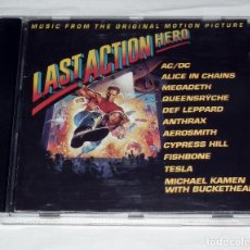 CDs de Música: CD B.S.O. LAST ACTION HERO AC/DC - MEGADETH - ANTHRAX - TESLA - QUEENSRYCHE. Lote 218144090