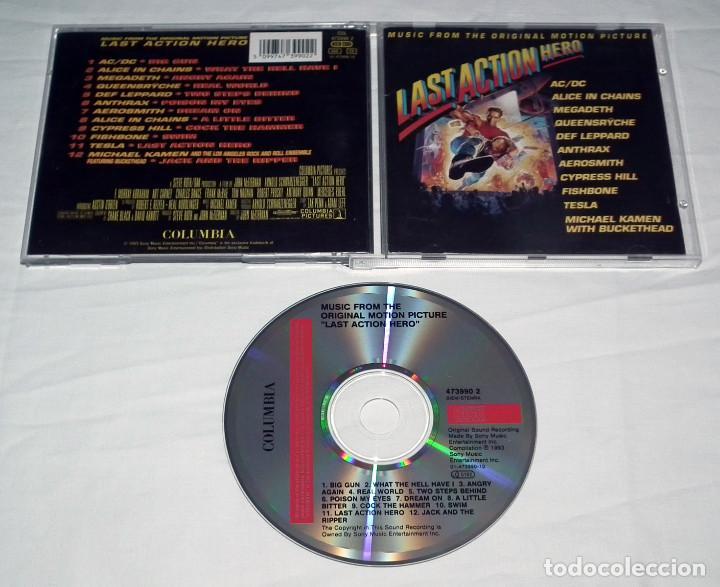 CDs de Música: CD B.S.O. LAST ACTION HERO AC/DC - MEGADETH - ANTHRAX - TESLA - QUEENSRYCHE - Foto 2 - 218144090