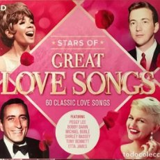 CDs de Música: GREAT LOVE SONGS - TRIPLE CD - SINATRA, ARETHA FRANKLIN, NINA SIMONE, RAY CHARLES, DORIS DAY. Lote 218144148