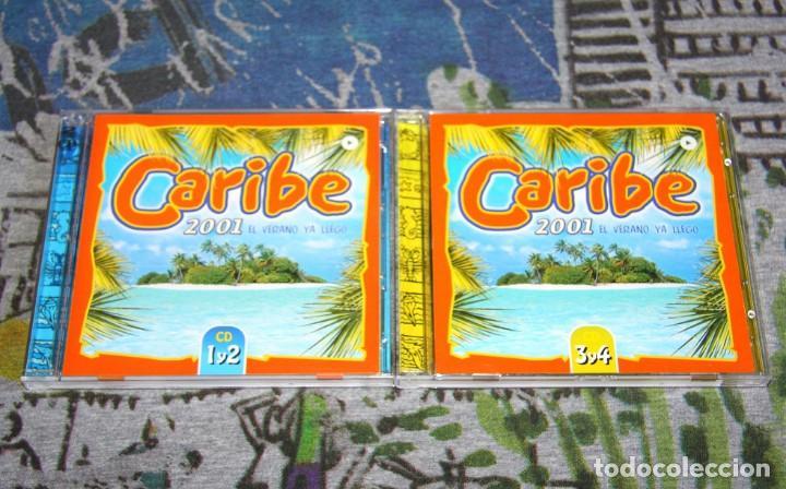 CARIBE 2001 - KING AFRICA - SONIA & SELENA - EDWIN RIVERA - VLCD 075-1 - VALE MUSIC - 4 CD'S (Música - CD's Disco y Dance)