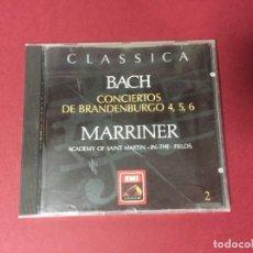 CDs de Música: CD CLASSICA BACH CONCIERTOS DE BRANDENBURGO 4,5,6 MARRINER EMI LA VOZ DE SU AMO. Lote 218196996