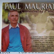 CDs de Música: PAUL MAURIAT - CANCIONES DE AMOR - 3CD. Lote 218209175