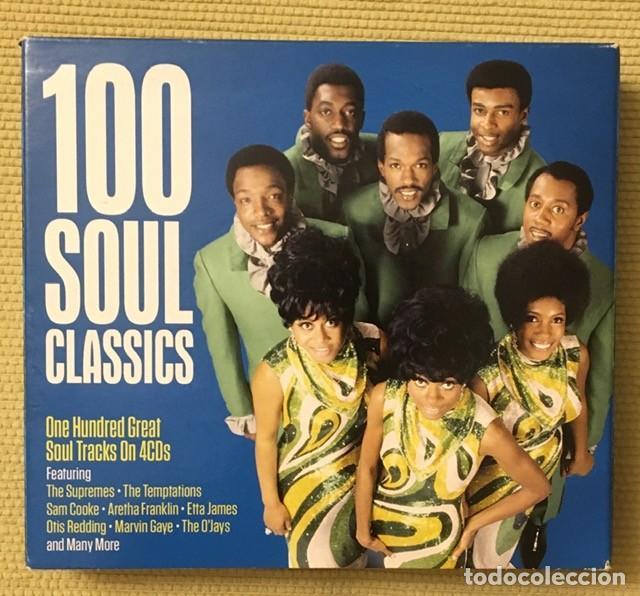 100 SOUL CLASSICS - BOX 4 CDS - ARETHA FRANKLIN, SAM COOKE, THE SUPREMES, MARVIN GAYE, OTIS REDDING (Música - CD's Jazz, Blues, Soul y Gospel)