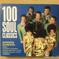 CDs de Música: 100 SOUL CLASSICS - BOX 4 CDS - ARETHA FRANKLIN, SAM COOKE, THE SUPREMES, MARVIN GAYE, OTIS REDDING. Lote 218253188