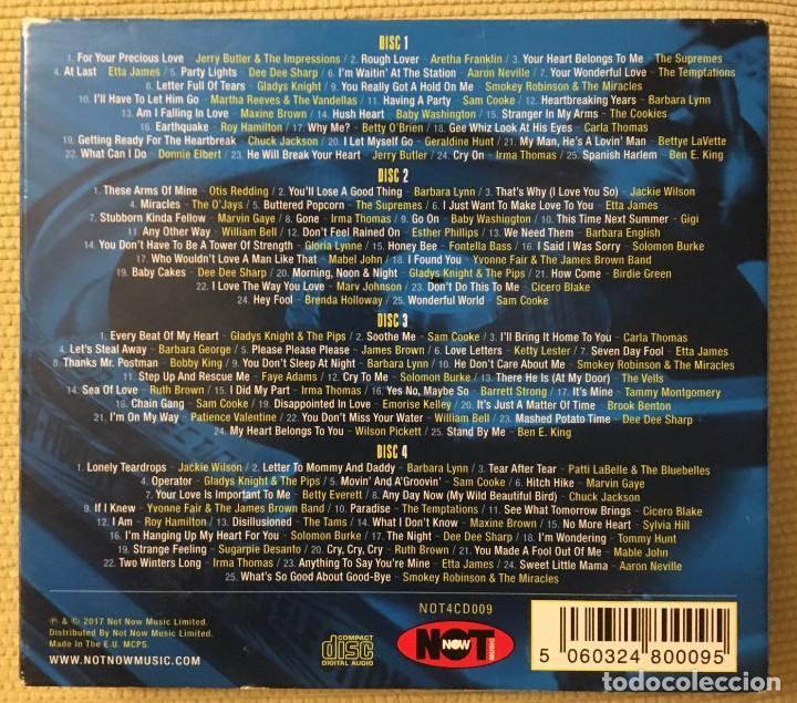 CDs de Música: 100 SOUL CLASSICS - BOX 4 CDs - ARETHA FRANKLIN, SAM COOKE, THE SUPREMES, MARVIN GAYE, OTIS REDDING - Foto 3 - 218253188