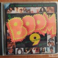 CDs de Música: BOOM 9. HEROES DEL SILENCIO. PLATON. LOQUILLO. MANOLO TENA. VICEVERSA. TASMIN. EMI ODEON. AÑO 1993.. Lote 218266430