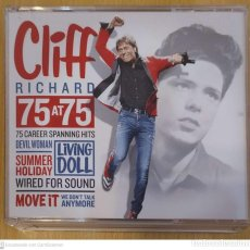 CDs de Música: CLIFF RICHARD (75 AT 75) 3 CD'S 2005 - THE DRIFTERS, THE SHADOWS. Lote 218313923