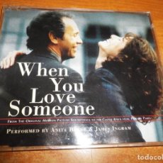 CDs de Música: ANITA BAKER & JAMES INGRAM BANDA SONORA WHEN YOU LOVE SOMEONE CD SINGLE 1995 ALEMANIA. Lote 218316626