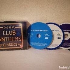 CDs de Música: CD TRIPLE ORIGINAL - THE BEST CLUB ANTHEM CLASSICS - HOUSE - TRANCE. Lote 218347912