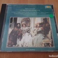 CDs de Música: LE PREZIOSE RIDICOLE (FELICE LATTUADA) GIANFRANCO MASINI. Lote 218422946