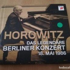 CDs de Música: HOROWITZ. DAS LEGENDÄRE BERLINER KONZERT 18 MAI 1986 (2 CD). Lote 218423183