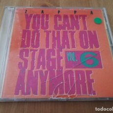 CDs de Música: FRANK ZAPPA. YOU CAN'T DO THAT ON STAGE ANYMORE VOL. 6 (DISC 1) CD. Lote 218425001