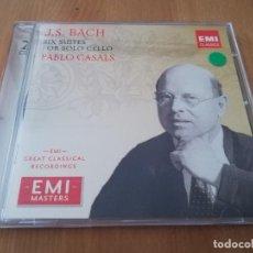 CDs de Música: J. S. BACH: CELLO SUITES. PABLO CASALS (2 CD). Lote 218425307