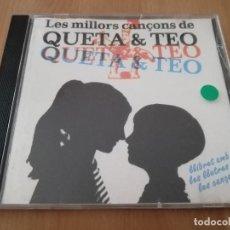 CDs de Música: LES MILLORS CANÇONS DE QUETA & TEO (CD). Lote 218426026