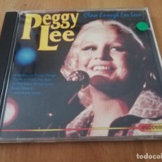 CDs de Música: PEGGY LEE. CLOSE ENOUGH FOR LOVE (CD). Lote 218426350
