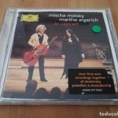 CDs de Música: MISCHA MAISKY, MARTHA ARGERICH IN CONCERT (CD). Lote 218426737