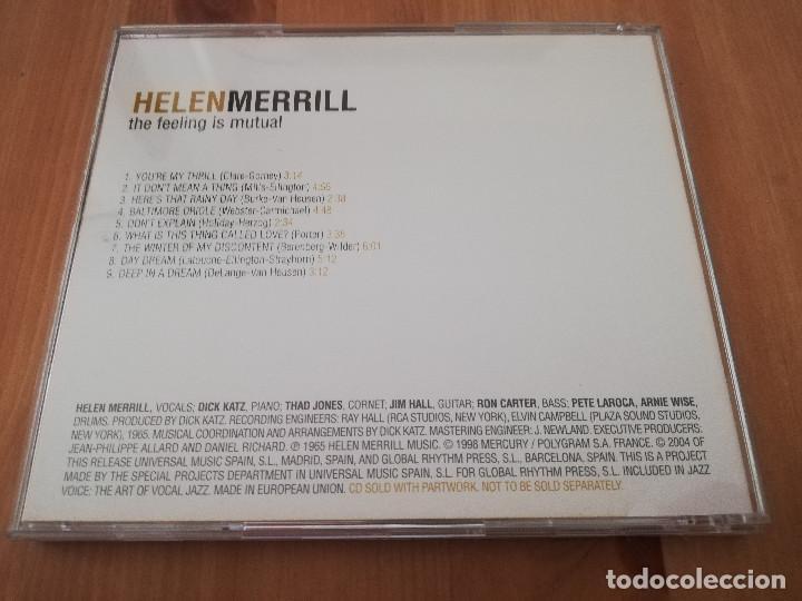 CDs de Música: HELEN MERRILL. THE FEELING IS MUTUAL (CD) - Foto 3 - 218427680