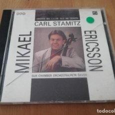 CDs de Música: CARL STAMITZ. CONCERTOS NOS. 1 - 3 FOR CELLO AND ORCHESTRA (CD). Lote 218428106