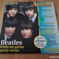 CDs de Música: BEATLES. WHILE MY GUITAR GENTLY WEEPS (ACORDES DE GUITARRISTA) CD. Lote 218430365