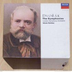 CDs de Música: ANTONIN DVORAK, LONDON SYMPHONY ORCHESTRA / ISTVÁN KERTÉSZ (THE SYMPHONIES) 6 CD'S LIBRO 1991. Lote 218432825