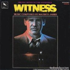 CDs de Música: WITNESS / MAURICE JARRE CD BSO. Lote 218446450