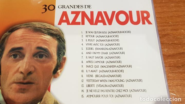 CDs de Música: 30 GRANDES DE AZNAVOUR / PACK-DOBLE CD - COUPE MUSIC- / 30 TEMAS / CALIDAD LUJO. - Foto 2 - 218491717