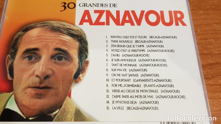 CDs de Música: 30 GRANDES DE AZNAVOUR / PACK-DOBLE CD - COUPE MUSIC- / 30 TEMAS / CALIDAD LUJO. - Foto 3 - 218491717