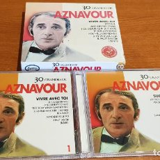 CDs de Música: 30 GRANDES DE AZNAVOUR / PACK-DOBLE CD - COUPE MUSIC- / 30 TEMAS / CALIDAD LUJO.. Lote 218491717