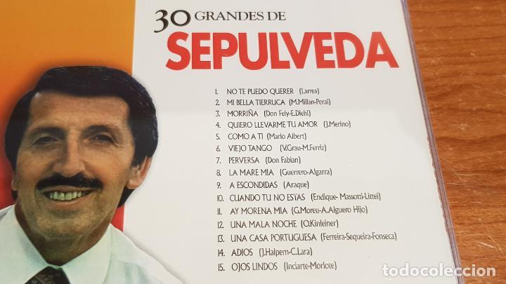 CDs de Música: 30 GRANDES DE SEPULVEDA / PACK-DOBLE CD - COUPE MUSIC- / 30 TEMAS / CALIDAD LUJO. - Foto 3 - 218491811