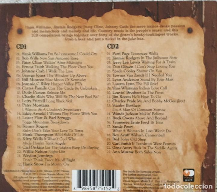CDs de Música: BACK IN THE SADDLE AGAIN - THE COUNTRY CLASSICS - DOBLE CD - JOHNNY CASH, DOLLY PARTON... - Foto 3 - 218492648
