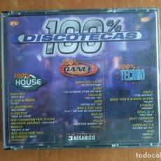CDs de Música: 100% DISCOTECAS. HOUSE. DANCE. TECHNO. SOLAMENTE CD DANCE. AÑO 1997.. Lote 218505063