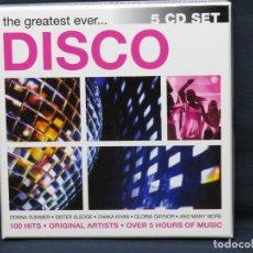 CDs de Música: THE GREATEST EVER... DISCO - 5 CD. Lote 218519885
