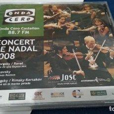 CDs de Música: CD ( ONDA CERO CASTELLÓN - CONCERT DE NADAL 2008 ) 2008 ONDA CERO NUEVO PRECINTADO. Lote 218631872