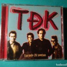 CD de Música: TDEK. TAN SOLO 20 BOMBAS. PUNK. HARDCORE. ESPASMÓDICOS. Lote 218661948