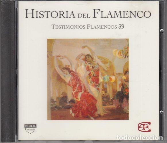 HISTORIA DEL FLAMENCO - TESTIMONIOS FLAMENCOS - CD EDICIONES TARTESSOS VOL 39 (Música - CD's Flamenco, Canción española y Cuplé)