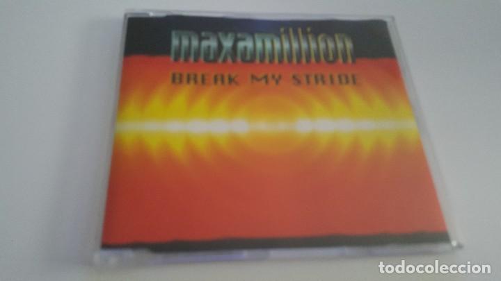 MAXAMILLION CD SINGLE BREAK MY STRIDE (Música - CD's Otros Estilos)