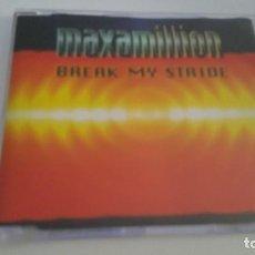 CDs de Música: MAXAMILLION CD SINGLE BREAK MY STRIDE. Lote 218703480