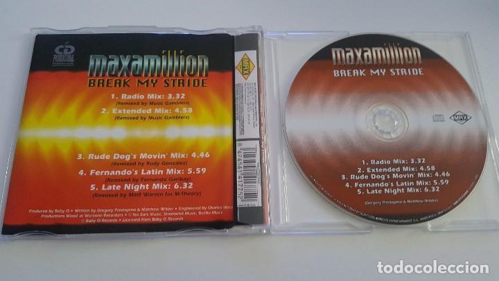 CDs de Música: MAXAMILLION CD single Break my stride - Foto 2 - 218703480