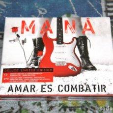 CDs de Música: MANÁ - AMAR ES COMBATIR - DELUXE LIMITED EDITION - LC 00392 - WARNER MUSIC - CD+ DVD - 2 DISCOS. Lote 49049360