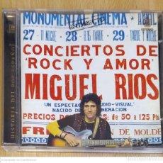 CDs de Música: MIGUEL RIOS (CONCIERTOS DE ROCK Y AMOR) CD 1997 SERIE HISTORIA DEL POP ESPAÑOL. Lote 218734276